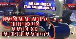 AK Parti İl Başkanı Gürgöze, Canlı Yayında Süreci Anlattı