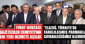 Fırat Havzası Gazeteciler Cemiyeti'nin Yeni Yeri Hizmete Açıldı