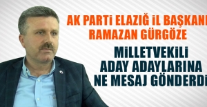 Başkan Gürgöze'den Milletvekili Aday Adaylarına Mesaj