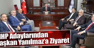MHP Adayları Başkan Yanılmazı Ziyaret Etti