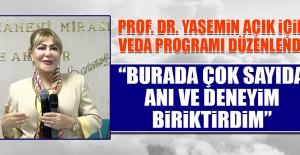Prof. Dr. Yasemin Açık İçin Veda Programı Düzenlendi