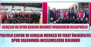 Bakan Mehmet Muharrem Kasapoğlu, İncelemelerde Bulundu