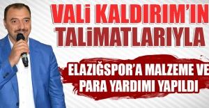 Elazığspor'a Malzeme ve Para Yardımı Yapıldı