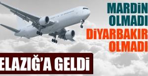 Mardin Uçağı Elazığ'a İndi