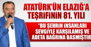 Mustafa Kemal Atatürk'ün Elazığ'a Teşrifinin 81. Yılı