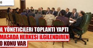 Elazığ Valiliği'nde Toplantı Yapıldı