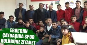 Milletvekili Erol'dan Çaydaçıra Spor Kulübüne Ziyaret