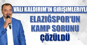 Vali Kaldırım'ın Girişimleriyle Elazığspor'un Kamp Sorunu Çözüldü