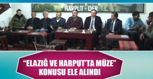 """""""Elazığ ve Harput'ta Müze"""" Konusu Ele Alındı"""