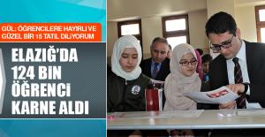 Elazığ'da 124 Bin Öğrenci Karne Aldı