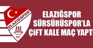 Elazığspor; Sürsürüspor'la Çift Kale Maç Yaptı