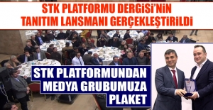STK Platformundan Medya Grubumuza Plaket