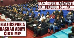 TY Elazığspor'un Olağanüstü Genel Kurul Toplantısı Sona Erdi