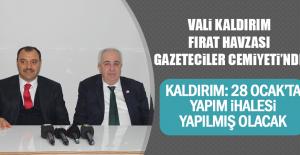 Vali Kaldırım Fırat Havzası Gazeteciler Cemiyeti'nde