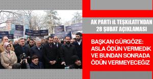 AK Parti İl Teşkilatı'ndan 28 Şubat Açıklaması