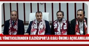 İl Yöneticileri Elazığspor'daki Son Durumu Aktardı