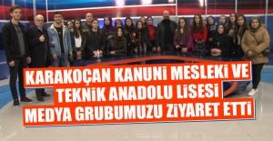 Karakoçan MTAL Öğrencileri Medya Grubumuzu Ziyaret Etti