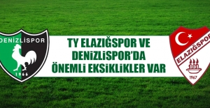 TY Elazığspor ve Denizlispor'da Önemli Eksiklikler Var