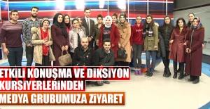 Diksiyon Kursiyerleri Medya Grubumuzu Ziyaret Etti