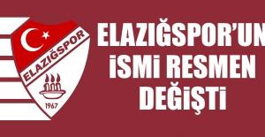Elazığspor'un İsmi Resmen Değişti