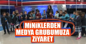 Miniklerden Medya Grubumuza Ziyaret