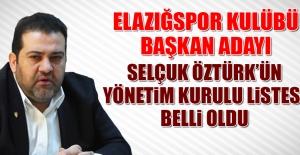 Selçuk Cengiz Öztürk'ün Yönetim Kurulu Listesi Belli Oldu!