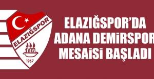 Tetiş Yapı Elazığspor'da Adana Demirspor Mesaisi Başladı