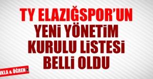TY Elazığspor'un Yeni Yönetim Kurulu Listesi Belli Oldu