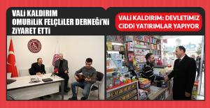 Vali Kaldırım'dan Omurilik Felçliler Derneği'ne Ziyaret