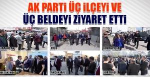 AK Parti Üç Beldeyi ve Üç İlçeyi Ziyaret Etti