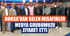 Bursa'dan Gelen Misafirler, Medya Grubumuzu Ziyaret Etti