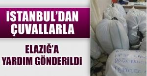 İstanbul'dan Çuvallarla Elazığ'a Yardım Gönderildi