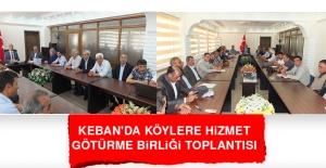 Keban'da Köylere Hizmet Götürme Birliği Toplantısı