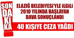 2010'da açılan Elazığ Belediyesi Davası Sonuçlandı