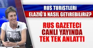 Elazığ'a Gelen Rus Gazeteci, Çarpıcı Açıklamalarda Bulundu
