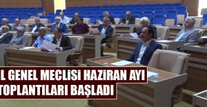 İl Genel Meclisi Haziran Ayı Toplantıları Başladı