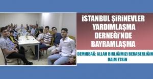 İstanbul Şirinevler Elazığ Yardımlaşma Derneği'nde Bayramlaşma