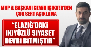 MHP İl Başkanı Işıkver'den Çok Sert Açıklama