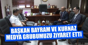 Başkan Bayram ve Kurnaz Medya Grubumuzu Ziyaret Etti