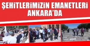 Şehitlerimizin Emanetleri Ankara'da