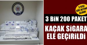 3 Bin 200 Paket Kaçak Sigara Ele Geçirildi