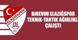 Birevim Elazığspor, Teknik-Taktik Ağırlıklı Çalıştı