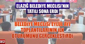 Elazığ Belediye Meclisi'nin Tatili Sona Erdi