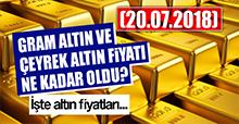 Altın fiyatı ne kadar oldu?