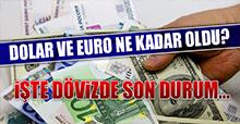 17 Kasım Dolar ve Euro Fiyatları