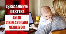 İşsiz anneye destek! Aylık 2 bin 420 lira veriliyor