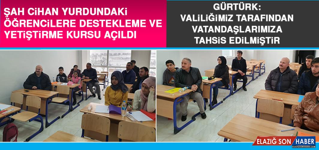 Şah Cihan Yurdundaki Öğrencilere Destekleme Ve Yetiştirme Kursu Açıldı
