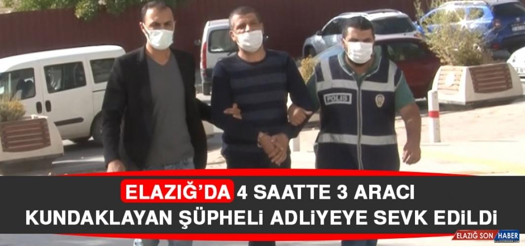 Elazığ'da 4 Saatte 3 Aracı Kundaklayan Şüpheli Adliyeye Sevk Edildi