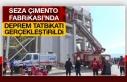 Seza Çimento Fabrikası'nda Deprem Tatbikatı Gerçekleştirildi