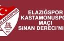 Elazığspor-Kastamonuspor Maçı Sinan Dereci'nin…